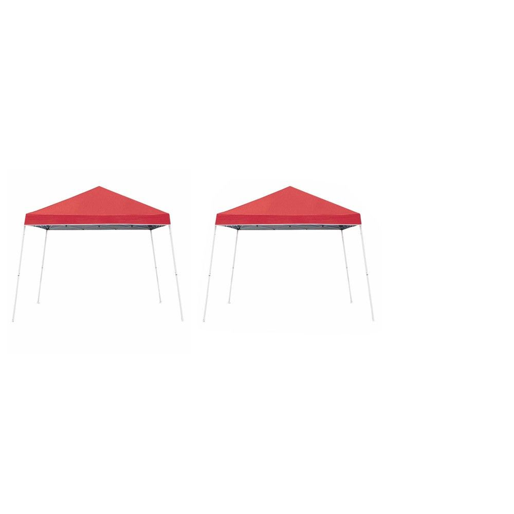 Z Shade 10 X 10 Angled Leg Instant Shade Canopy Portable Tent Red 2 Pack Portable Tent