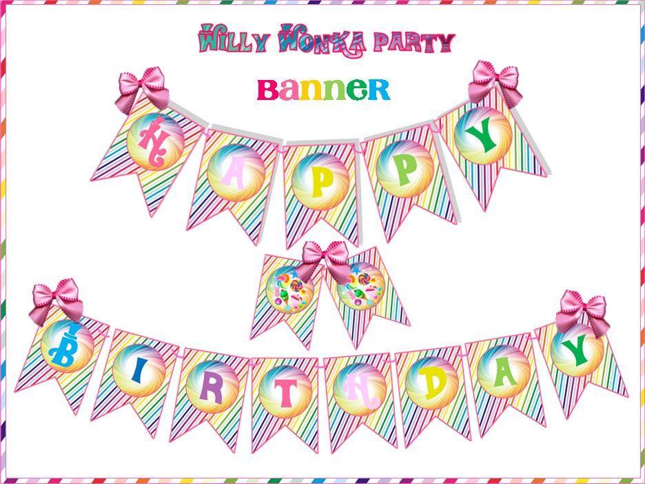 Pin en Willy Wonka Party Inspiration Board by Bella Bella