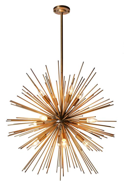 Gold Starburst Pendant Lamp Starburst Chandelier Starburst Light Starburst