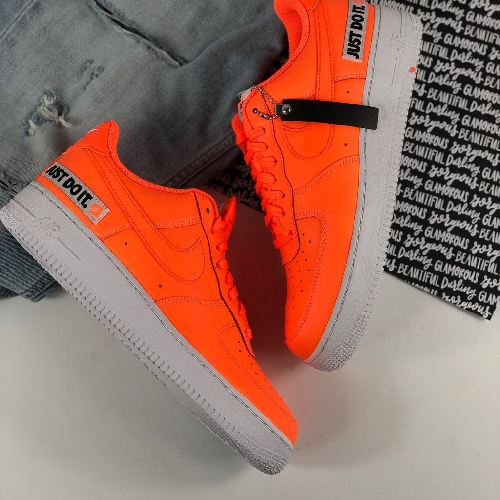 Nike Shoes | Nike Air Force 1 Just Do It Neon Orange