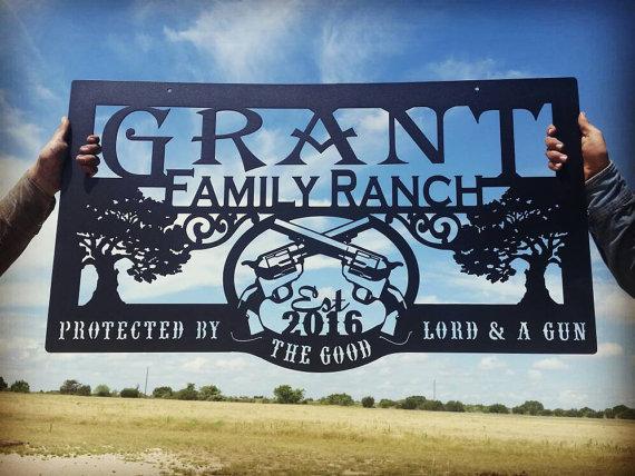 Western Metal Art Farm Or Ranch Sign Lmw 16 24 Farm