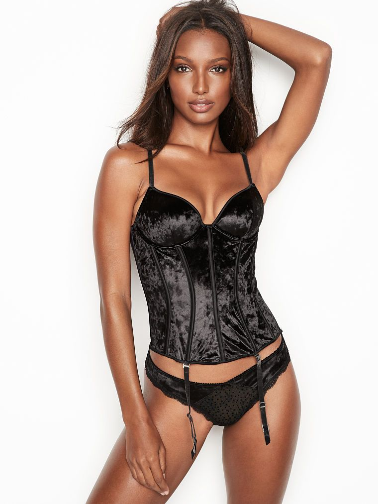 4335354e9f DREAM ANGELS Shine Velvet Bustier  ad