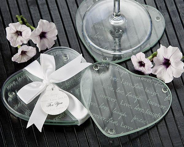 Live Love Laugh Heart Glass Coasters Favor Set Of 2 Wedding Coasters Favors Unique Wedding Favors Wedding Gift Favors