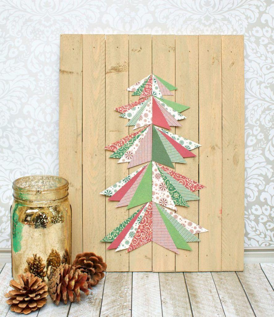 Paper Pieced Christmas Tree Wall Art Tutorial | Christmas window ...