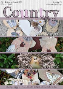 November Issue is now Online !! www.countrymagazine.it  Let's Find some cute ideas for your Christmas!!!  Use The tag: #BeMoreCountrySocial