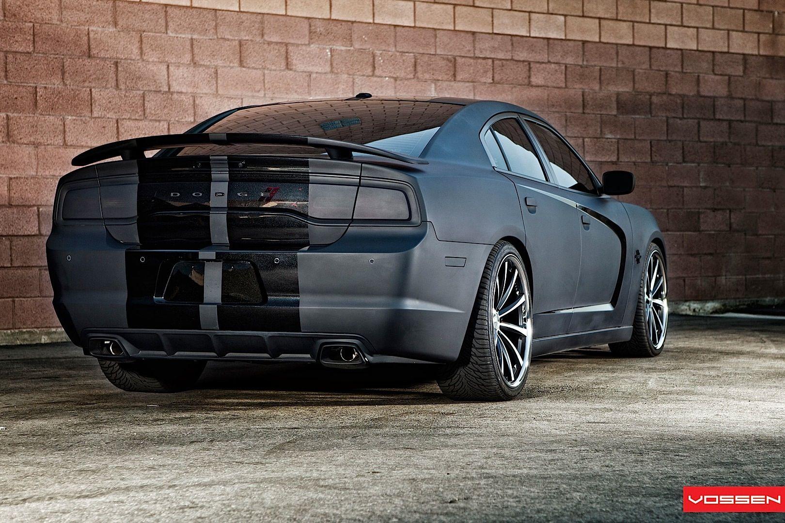 Dodge Ram Srt10 For Sale >> Dodge Charger Gets Matte Black Wrap and Vossen Wheels ...