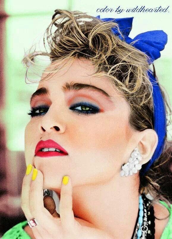 Madonna Early 80 S Colorization 80s Makeup Madonna 80s Makeup