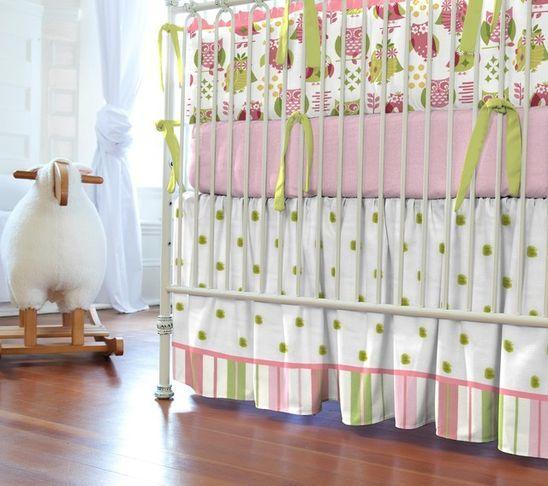 Caroulsel Designs...Cute crib skirting and bumper.
