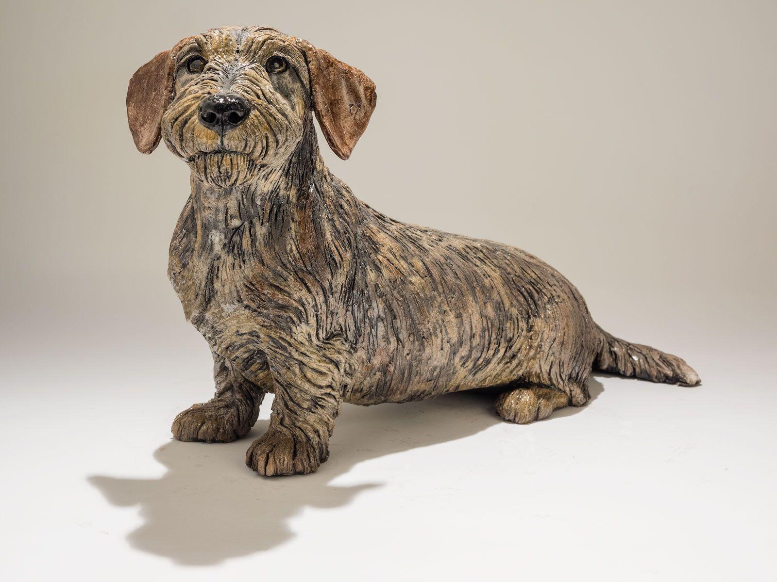 Dachshund Dog Sculpture Sold Kunsthandvaerk