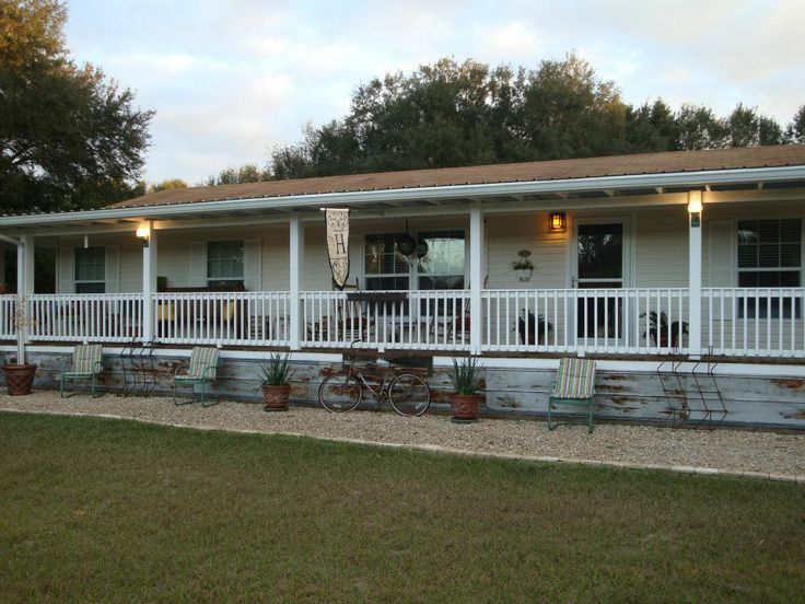 Exterior Designs For Mobile Homes Fully Covered Front Porch On