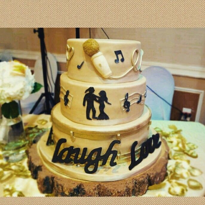 Rustic singer/drummer inspired wedding cake | cakes by Sunny\'s ...