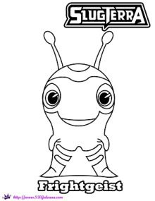 Frightgeist slugterra ghoul from beyond dvd info and for Slugterra coloring pages burpy