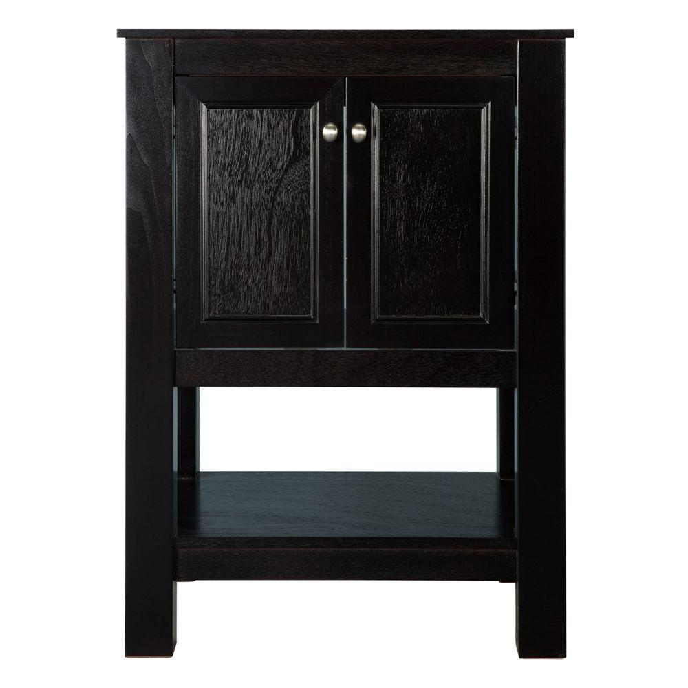 Home Decorators Collection Gazette 24 In W X 18 In D X 34 In H Vanity Cabinet Only In Espresso Gaea2418 The Home Depot Granite Vanity Tops Home Decorators Collection Vanity Cabinet