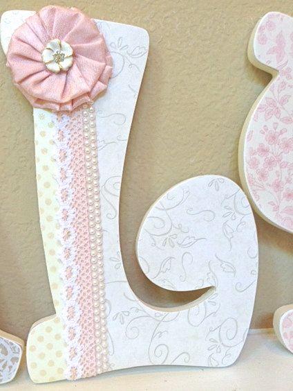 Custom Wooden Nursery Letters Baby Decor