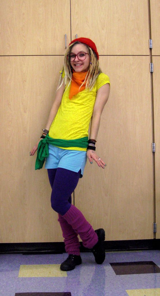 simple but awesome halloween costume -- RAINBOW Halloween - clever halloween costume ideas