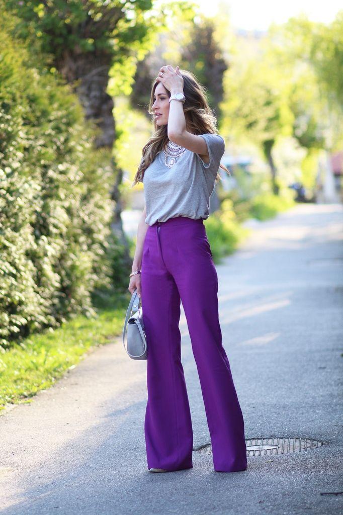 Cómo Vestir con Pantalones Anchos? - Mujer y Estilo | Moda para ...