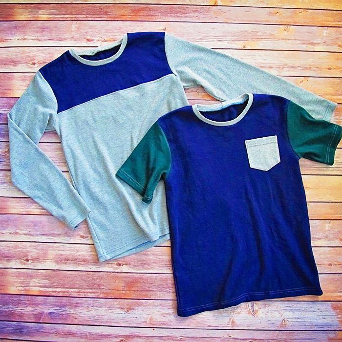 Zee\'s Tee – T Shirt Pattern Pocket Tee, Yoke, Colorblock - Long and ...