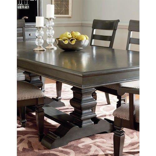 Shop For The Standard Furniture Garrison Trestle Dining Table Set At Household