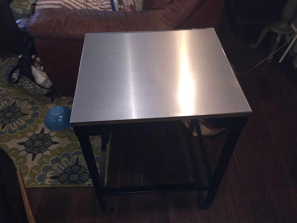 Stainless Steel Contact Paper Table Top Makeover Stainless Steel Contact Paper Frosted Mirror Stainless Steel Table