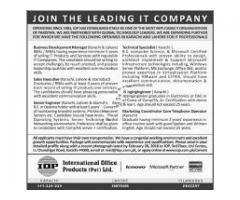 IOP International Office Products Karachi Jobs 2018 Apply Now