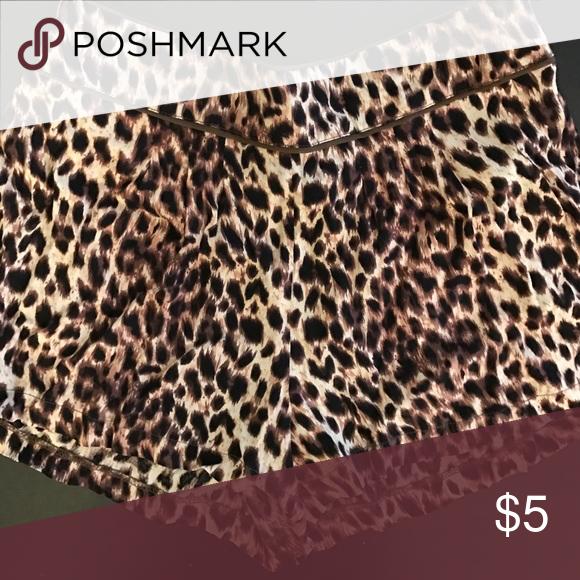 Animal Print Shorts Never worn. Fabric- 100% Viscose. Forever 21 Shorts