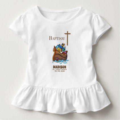 Customizable Baby Girl Baptism Noah S Ark Toddler T Shirt