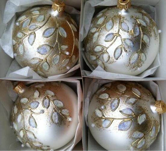 Szklane Bombki Choinkowe Recznie Malowane 10 Cm 4863058991 Oficjalne Archiwum Allegro Christmas Ornaments Christmas Bulbs Christmas Balls