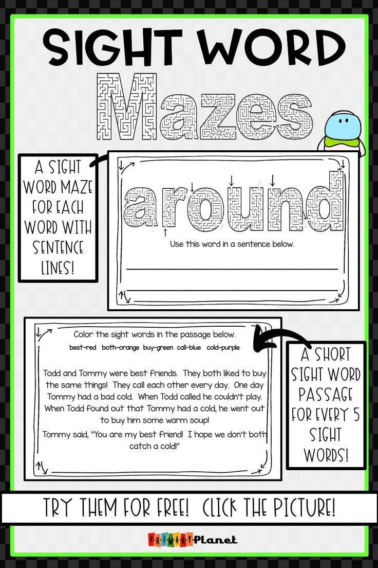 Sight word mazes second grade freebie whous who and whous new