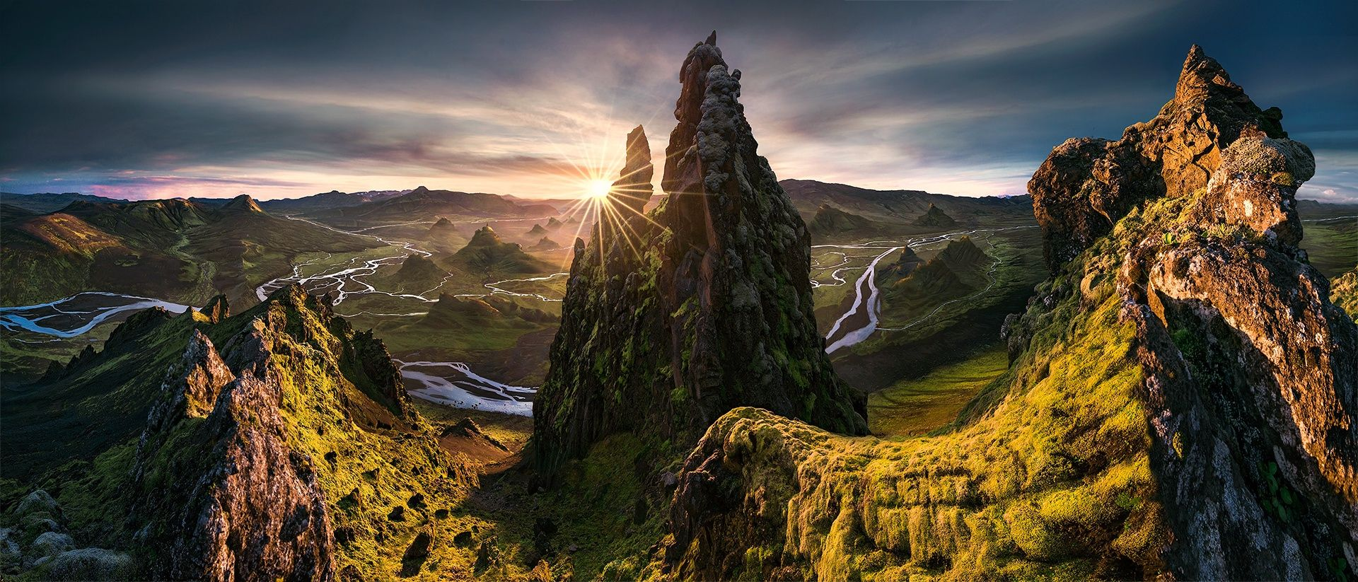 """The Dictator - For my latest work check my <a href=""""https://www.facebook.com/pages/Max-Rive-Photography/182378168614600?fref=ts"""">'Facebook Page</a>  I took this pano during sunset in the Icelandic Highlands. I couldn't use a tripod from this position and also had to do some focus stacking on the right part. The distortion was pretty problematic when I first merged all the shots, which became obvious because of all the water but I could make some local adjustments.   In case you are…"""