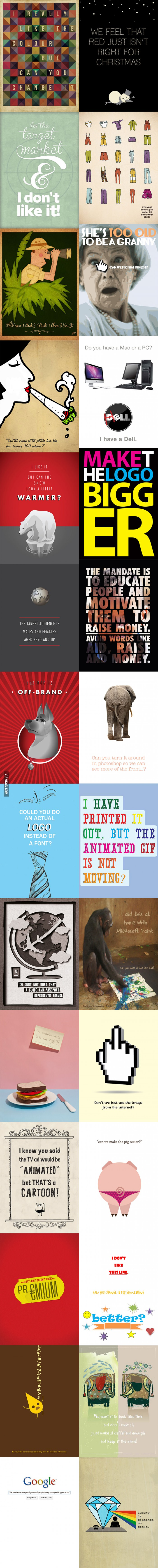 Every Designers Nightmare Funny Pinterest Funny Posts And - Hilarious things clients said turned clever posters