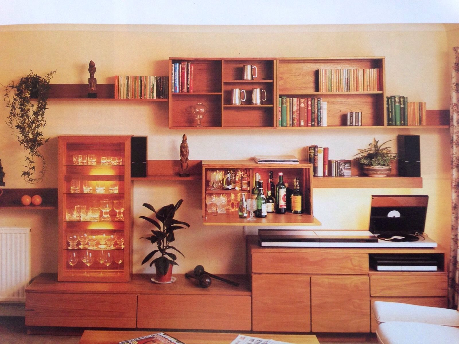 Retro Teak Tapley 33 Furniture Drawers Glass Cabinet Cupboard Ebay Glass Cabinet Furniture Cabinet Cupboard