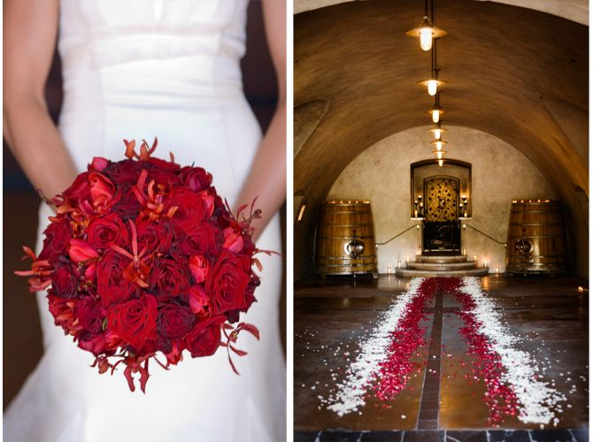 Red Rose Bouquet Amp Petal Aisle At Viansawinery Photo By