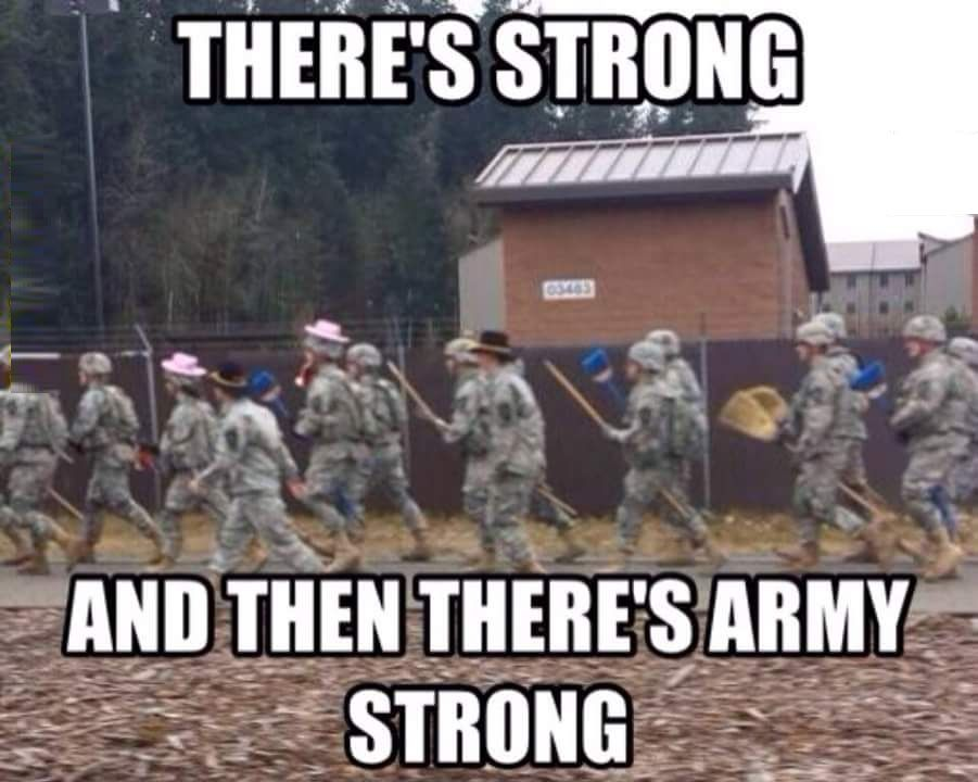 There 's Strong And Then There's Army Strong. #army #memes