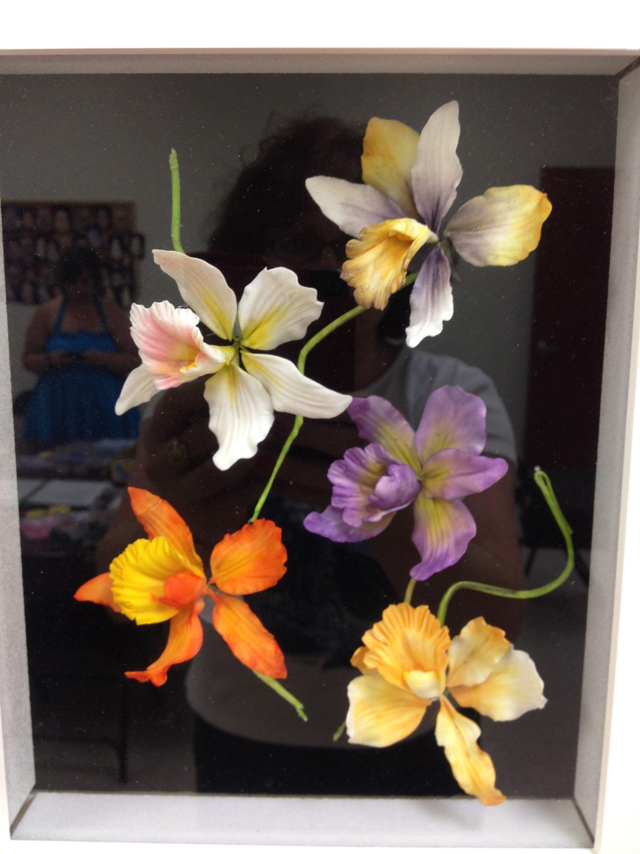 Gumpaste Cattleya Orchids Cold Porcelain Flowers Foam Flowers Sugar Flowers