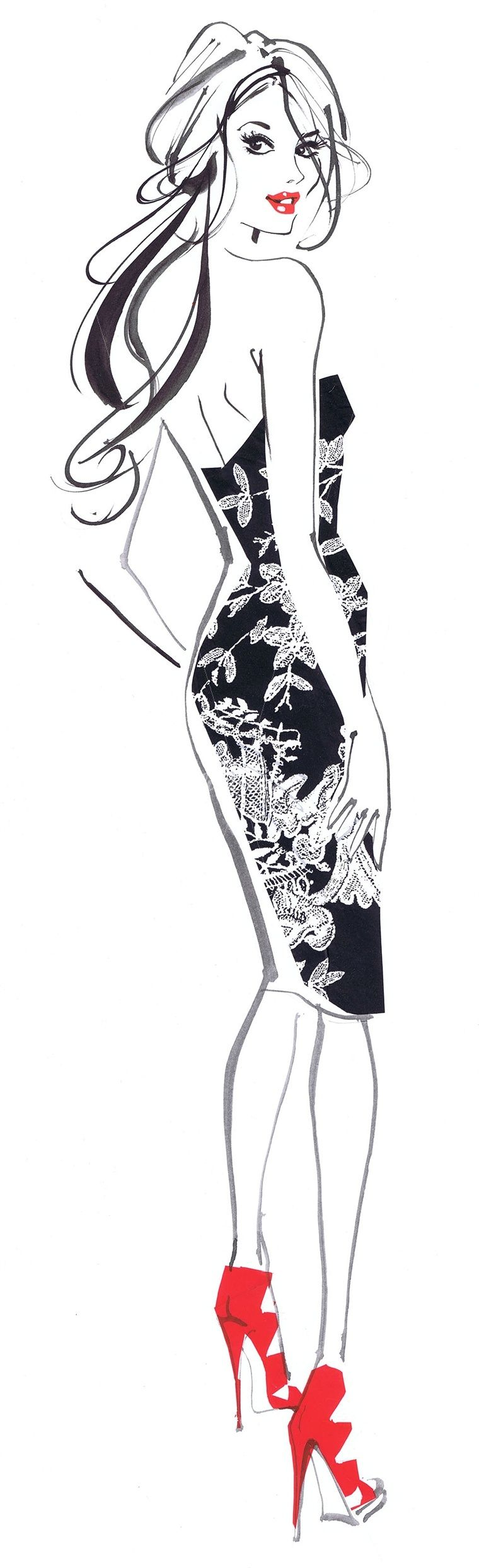 Photo of Jacqueline Bissett's Portfolio – Jacqueline Bissett – International fashion illustrator. UK