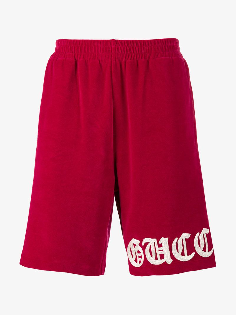 e552b7db7e GUCCI EMBROIDERED VELVET TRACK SHORTS. #gucci #cloth #   Gucci Men ...