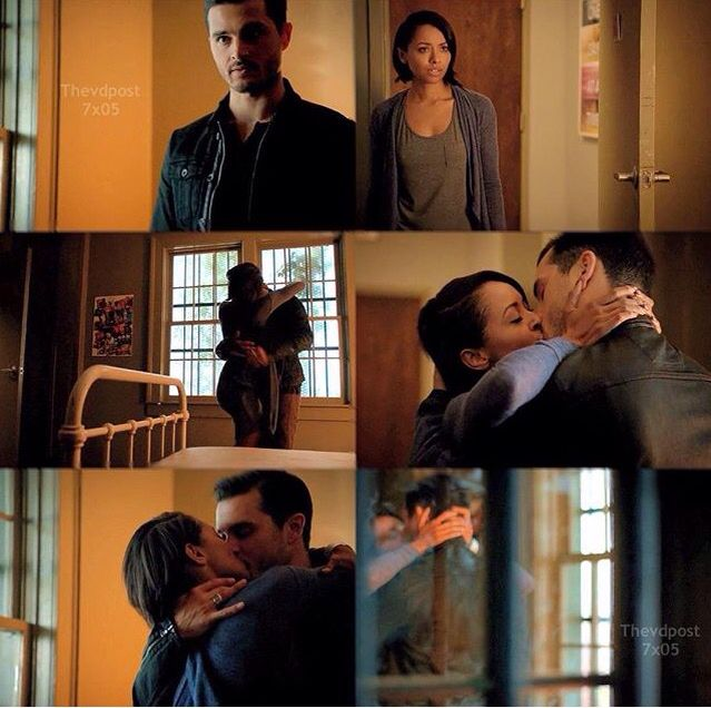 I don't know how this happened but i am definitely on board with this ship ---Bonnie & Enzo S7.
