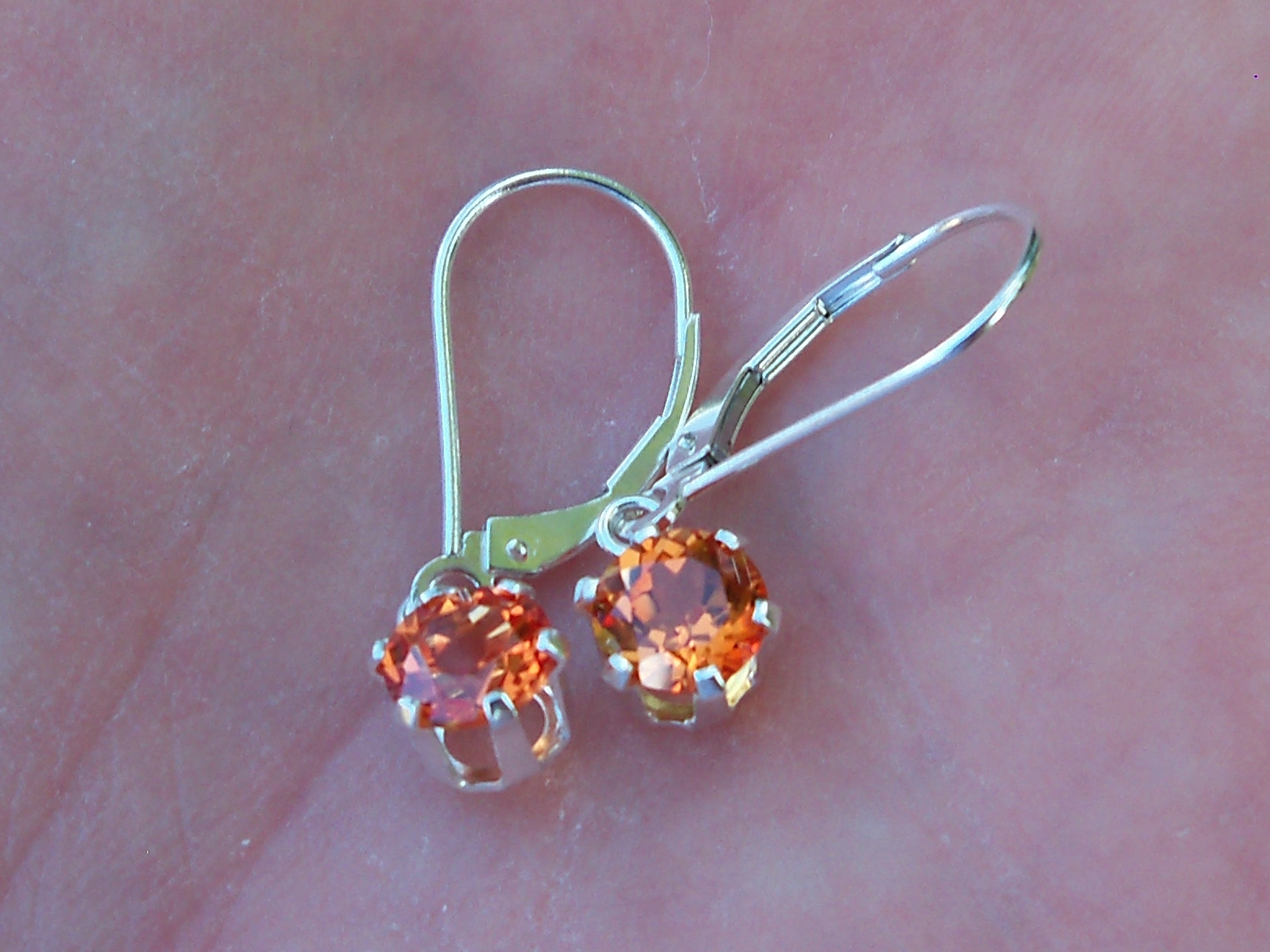 listing padparadscha beautiful sapphire zoom earrings fullxfull il