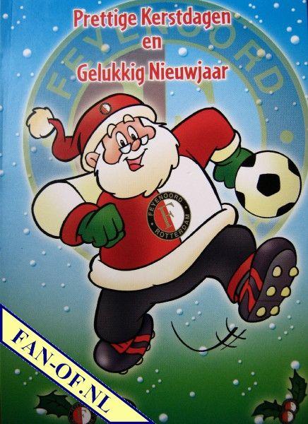 Speciaal Voor De Feyenoord Fans Kerst Kerstman Voetbal Nieuwjaar