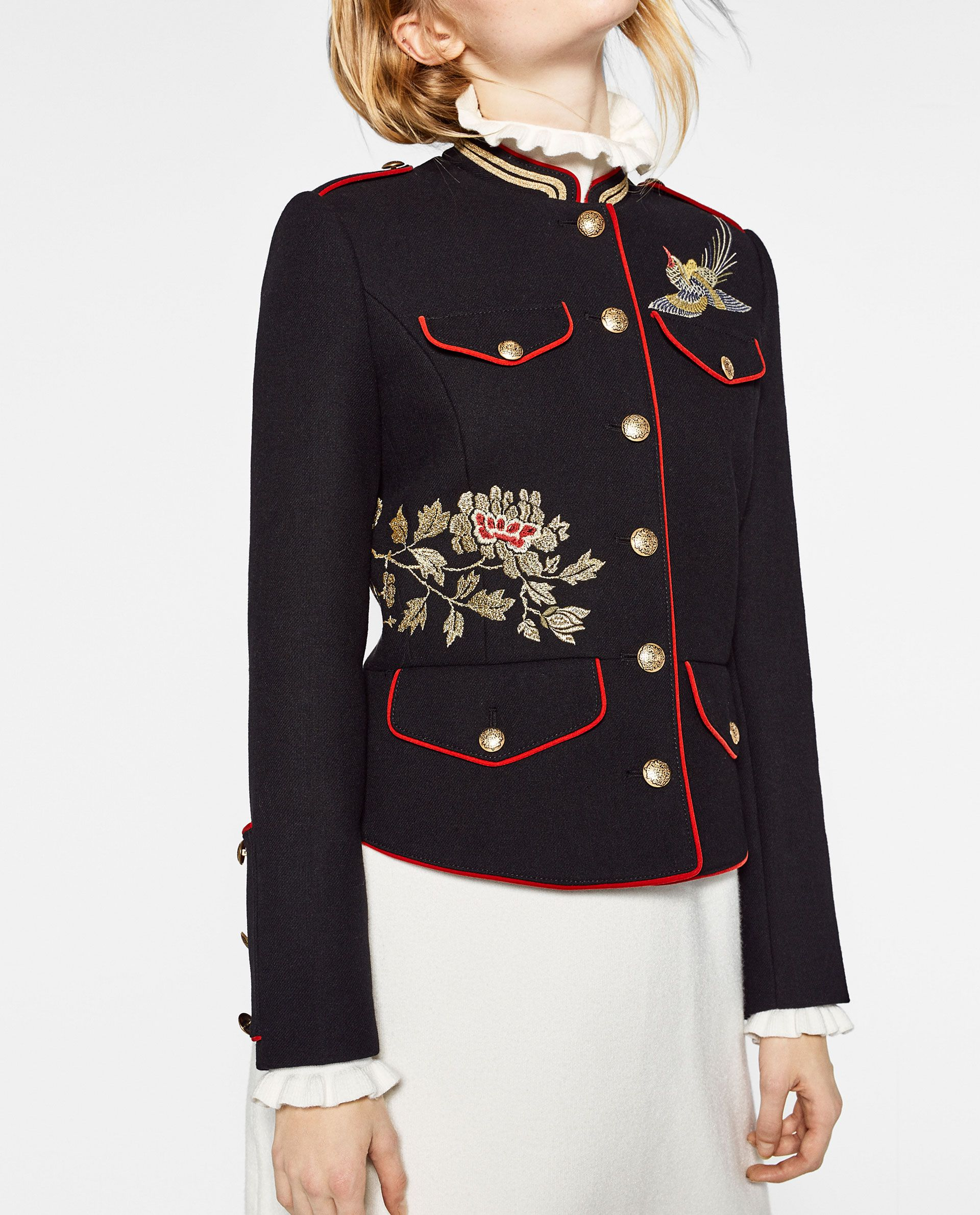 Jacket with embroidery get up pinterest