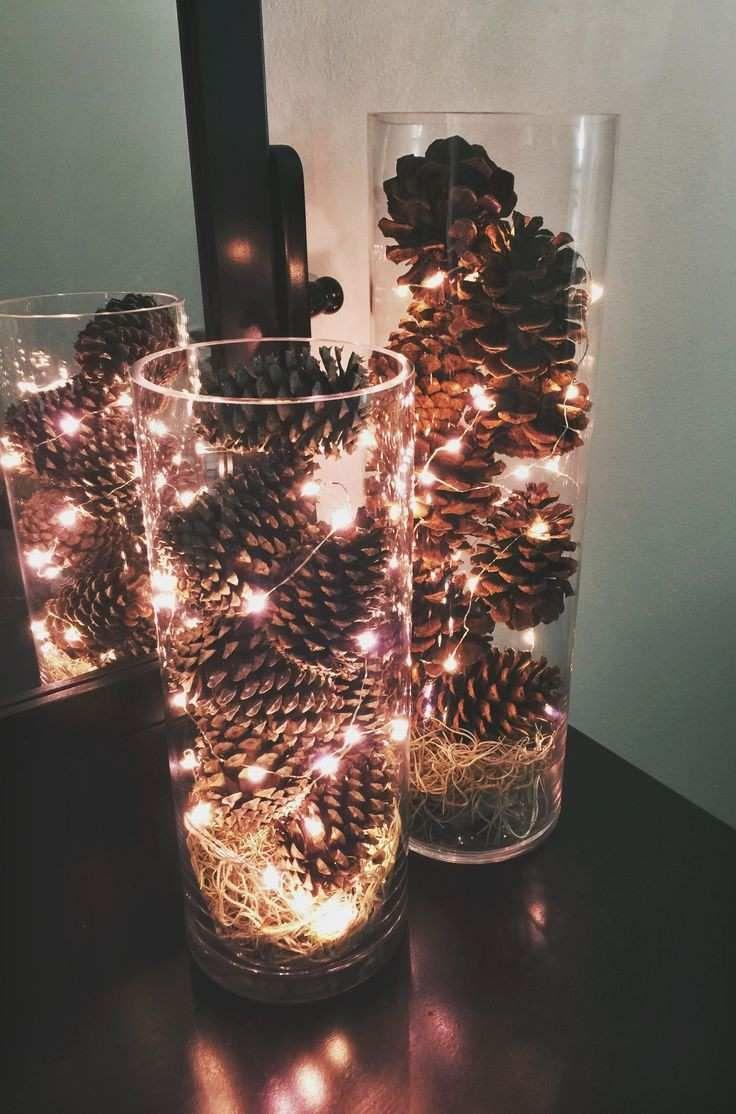 Elegant Pinecone Centerpiece Of Pine Christmas Centerpieces Christmas Decorations Beautiful Christmas