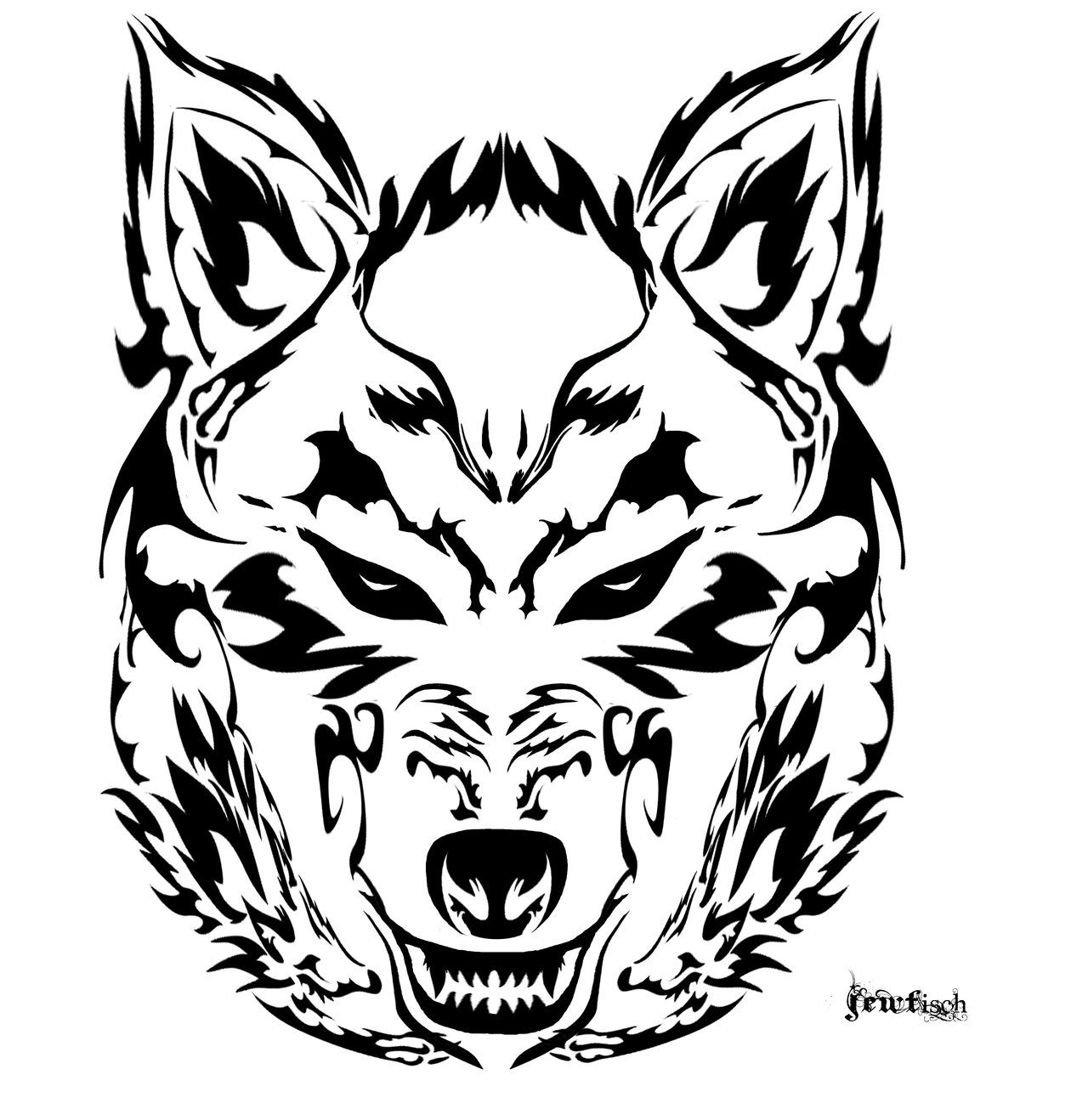 Hd Wallpapers 3d Art Tattoo Design: Tribal Wolf - Google Search