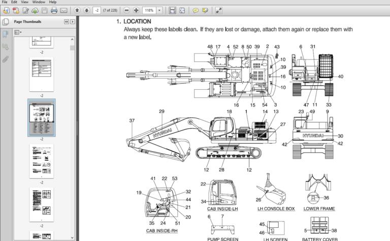 Hyundai R330lc 9a Crawler Excavator Operators Manual Pdf Download Excavator Hyundai Manual
