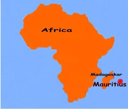 mauritius island africa map