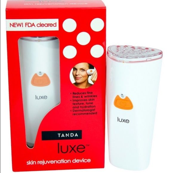 Tanda Luxe Skin Rejuvenation Device, 3 pc Lancome Renergie Multi-Glow Rosy Skin Tone Reviving Cream  50ml/1.7oz