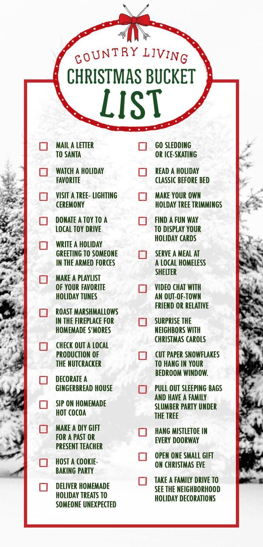 28 lustige Weihnachtsaktivitäten – Ideen für eine Weihnachts-Eimerliste – Land…