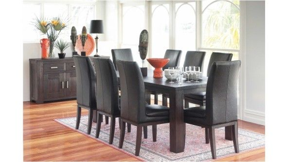 Rustic 9 Piece Dining Setting - Dining Furniture | Harvey Norman ...