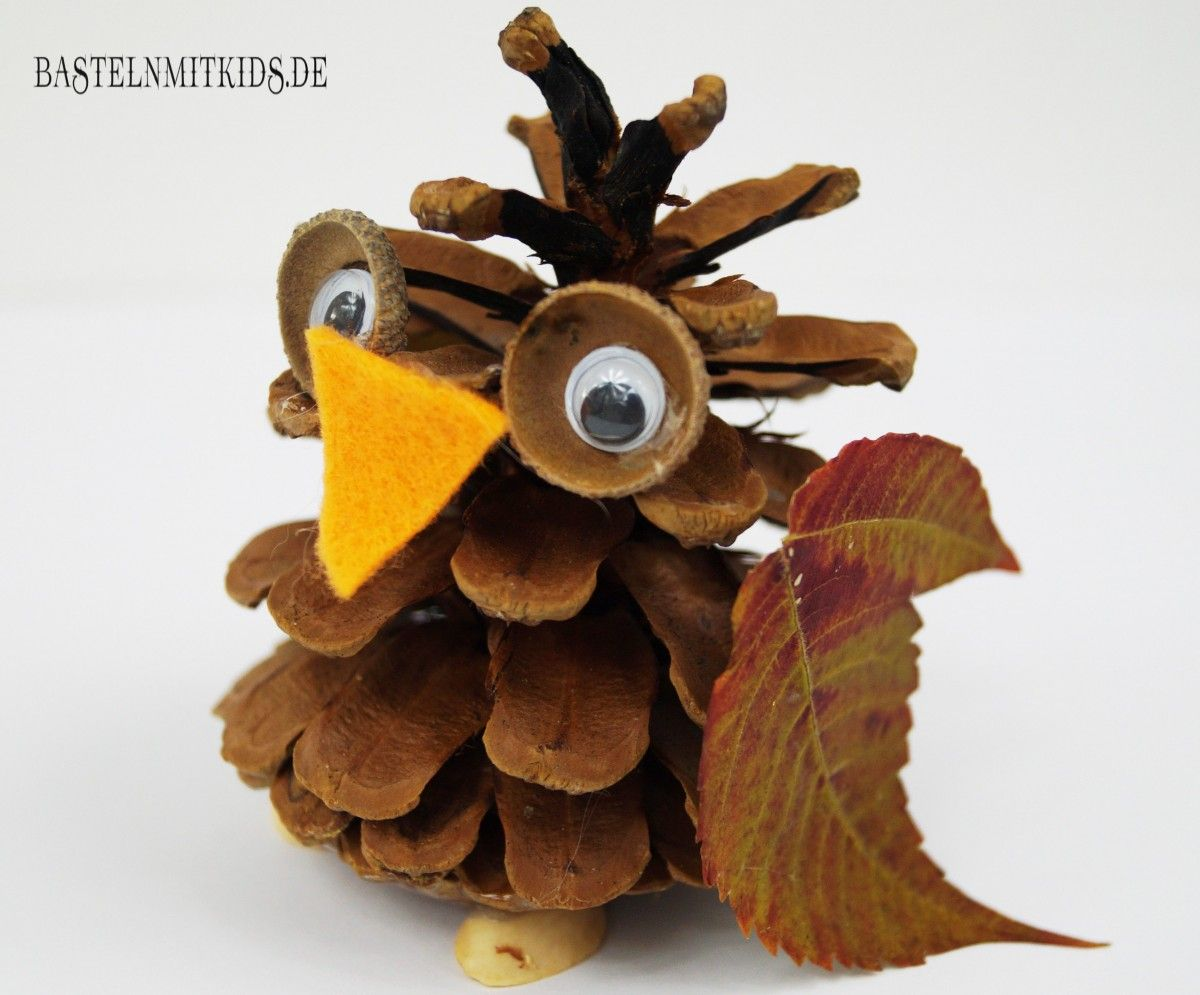 Basteln Mit Styroporkugeln Tiere Kinder Basteln Herbst