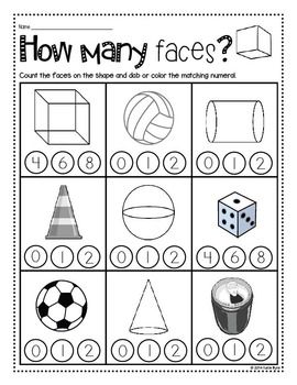 Print and Go! Shapes and Geometry (NO PREP