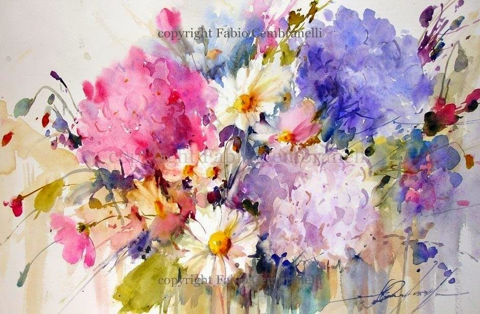 Hortensias 8 Con Imagenes Flores Abstractas Flores Pintadas